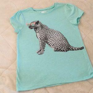 Leopard in a sunglasses T shirt